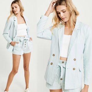 Summer 💙🦋 //A&F// Linen Baby Blue Blazer
